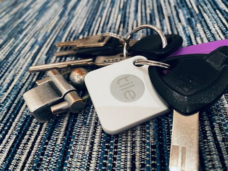 社員証の紛失防止対策はスマートタグで解決(鍵に付けたスマートタグTile)