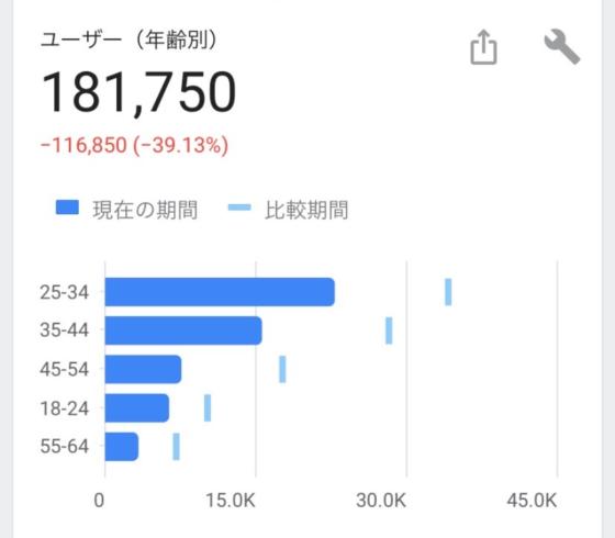 Tableauで作るヒストグラム(Googleアナリティクスで見られる年齢ヒストグラム)