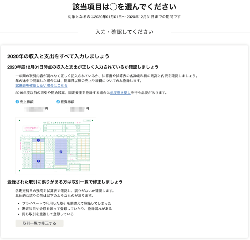 副業会社員、自分で行う確定申告、65万円控除を獲得するやり方(収支入力の最終確認)