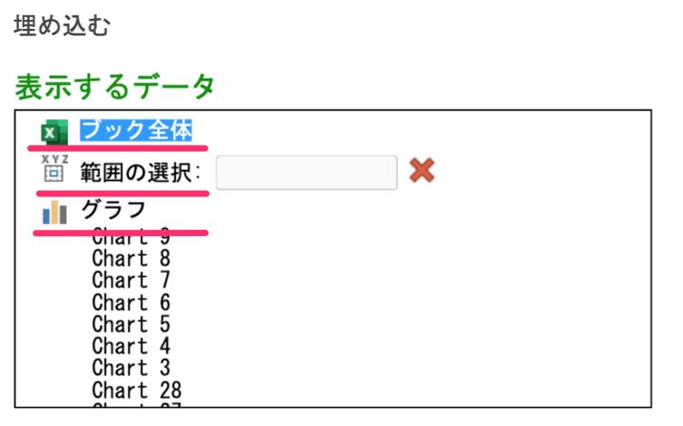 Sharepointにエクセルを埋め込む方法・やり方(エクセルの表示範囲を指定する)